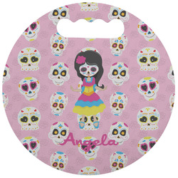 Kids Sugar Skulls Stadium Cushion (Round) (Personalized)