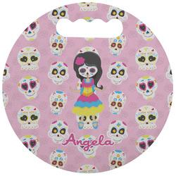 Kids Sugar Skulls Stadium Cushion (Round) (Personalized)