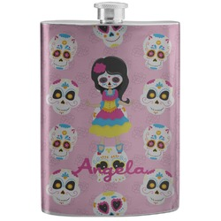 Kids Sugar Skulls Stainless Steel Flask (Personalized)