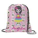 Kids Sugar Skulls Drawstring Backpack (Personalized)