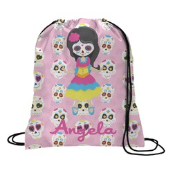 Kids Sugar Skulls Drawstring Backpack (Personalized)