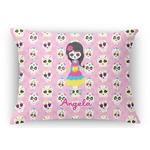 Kids Sugar Skulls Rectangular Throw Pillow Case (Personalized)
