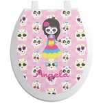 Kids Sugar Skulls Toilet Seat Decal (Personalized)