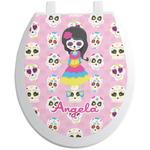 Kids Sugar Skulls Toilet Seat Decal (Personalized)