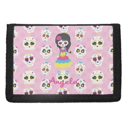 Kids Sugar Skulls Trifold Wallet (Personalized)