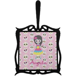 Kids Sugar Skulls Trivet with Handle (Personalized)