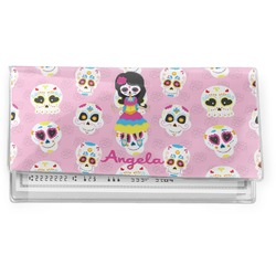 Kids Sugar Skulls Vinyl Check Book Cover (Personalized)
