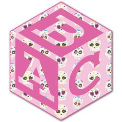 Kids Sugar Skulls Monogram Decal - Custom Sized (Personalized)