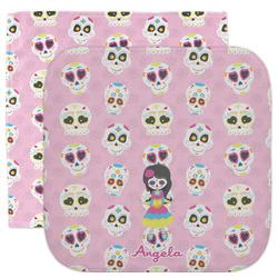 Kids Sugar Skulls Facecloth / Wash Cloth (Personalized)