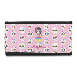 Kids Sugar Skulls Leatherette Ladies Wallet (Personalized)