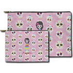 Kids Sugar Skulls Zipper Pouch (Personalized)
