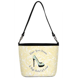 High Heels Bucket Bag w/ Genuine Leather Trim