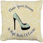 High Heels Faux-Linen Throw Pillow