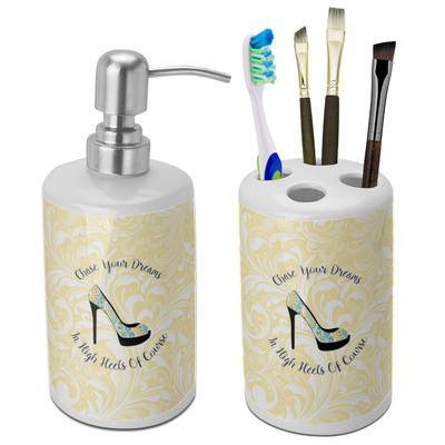 High Heels Ceramic Bathroom Accessories Set