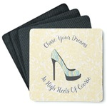 High Heels 4 Square Coasters - Rubber Backed