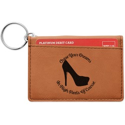 High Heels Leatherette Keychain ID Holder