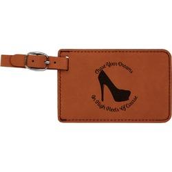 High Heels Leatherette Luggage Tag