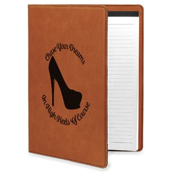 High Heels Leatherette Portfolio with Notepad