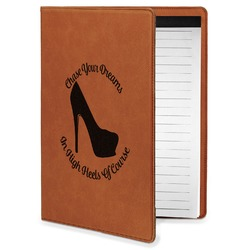 High Heels Leatherette Portfolio with Notepad - Small - Single Sided
