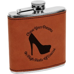 High Heels Leatherette Wrapped Stainless Steel Flask