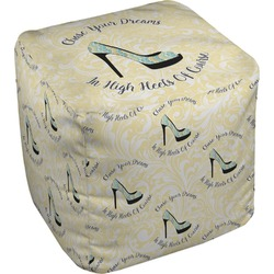 High Heels Cube Pouf Ottoman