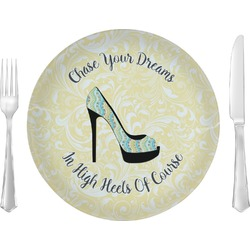"""High Heels 10"""" Glass Lunch / Dinner Plates - Single or Set"""