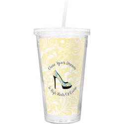 High Heels Double Wall Tumbler with Straw