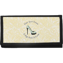 High Heels Canvas Checkbook Cover