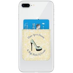 High Heels Genuine Leather Adhesive Phone Wallet