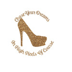 High Heels Glitter Iron On Transfer- Custom Sized