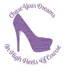 High Heels Glitter Sticker Decal - Custom Sized