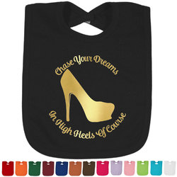 High Heels Foil Toddler Bibs (Select Foil Color)
