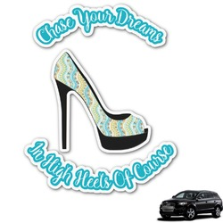 High Heels Graphic Car Decal