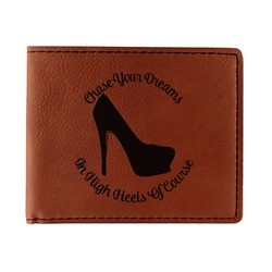 High Heels Leatherette Bifold Wallet - Double Sided