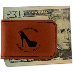 High Heels Leatherette Magnetic Money Clip