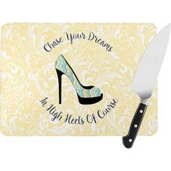 High Heels Rectangular Glass Cutting Board