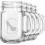 High Heels Mason Jar Mugs (Set of 4)