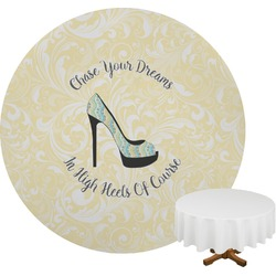 High Heels Round Tablecloth