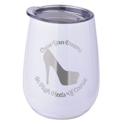High Heels Stemless Wine Tumbler - 5 Color Choices - Stainless Steel