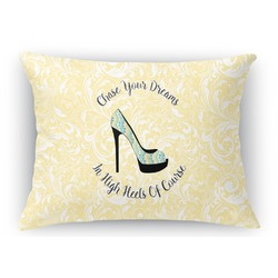 High Heels Rectangular Throw Pillow Case