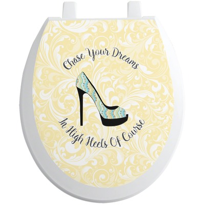High Heels Toilet Seat Decal - Round
