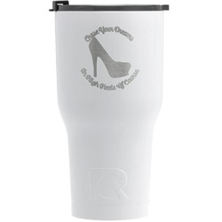 High Heels RTIC Tumbler - White - Engraved Front
