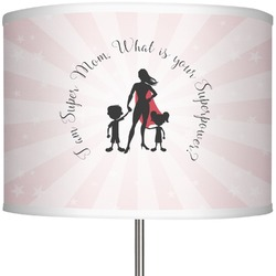 """Super Mom 13"""" Drum Lamp Shade Polyester"""