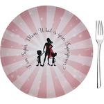 "Super Mom Glass Appetizer / Dessert Plates 8"" - Single or Set"