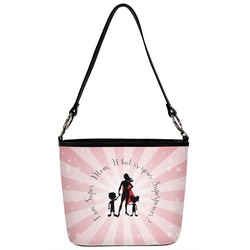 Super Mom Bucket Bag w/ Genuine Leather Trim