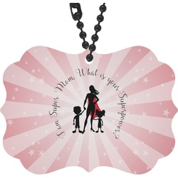 Super Mom Rear View Mirror Charm