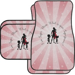 Super Mom Car Floor Mats Set - 2 Front & 2 Back