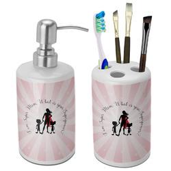 Super Mom Bathroom Accessories Set (Ceramic)