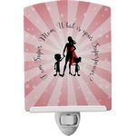 Super Mom Ceramic Night Light