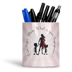 Super Mom Ceramic Pen Holder